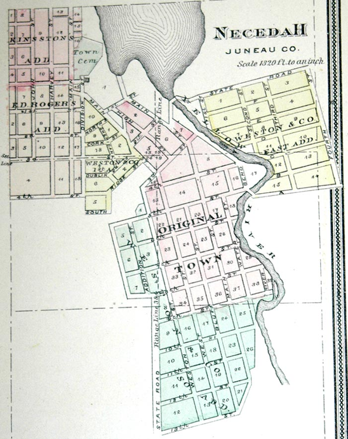 Marion Wisconsin Map.Juneau County Wisconsin History 1878