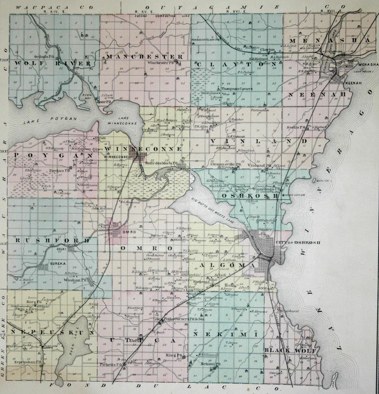 wood lake map with 1878atlas Winnebago on 122243337 further Petrified Forest likewise Fish In Lake Welch furthermore Ingleborough Yorkshire Dales 10 Mile Circular furthermore Id.