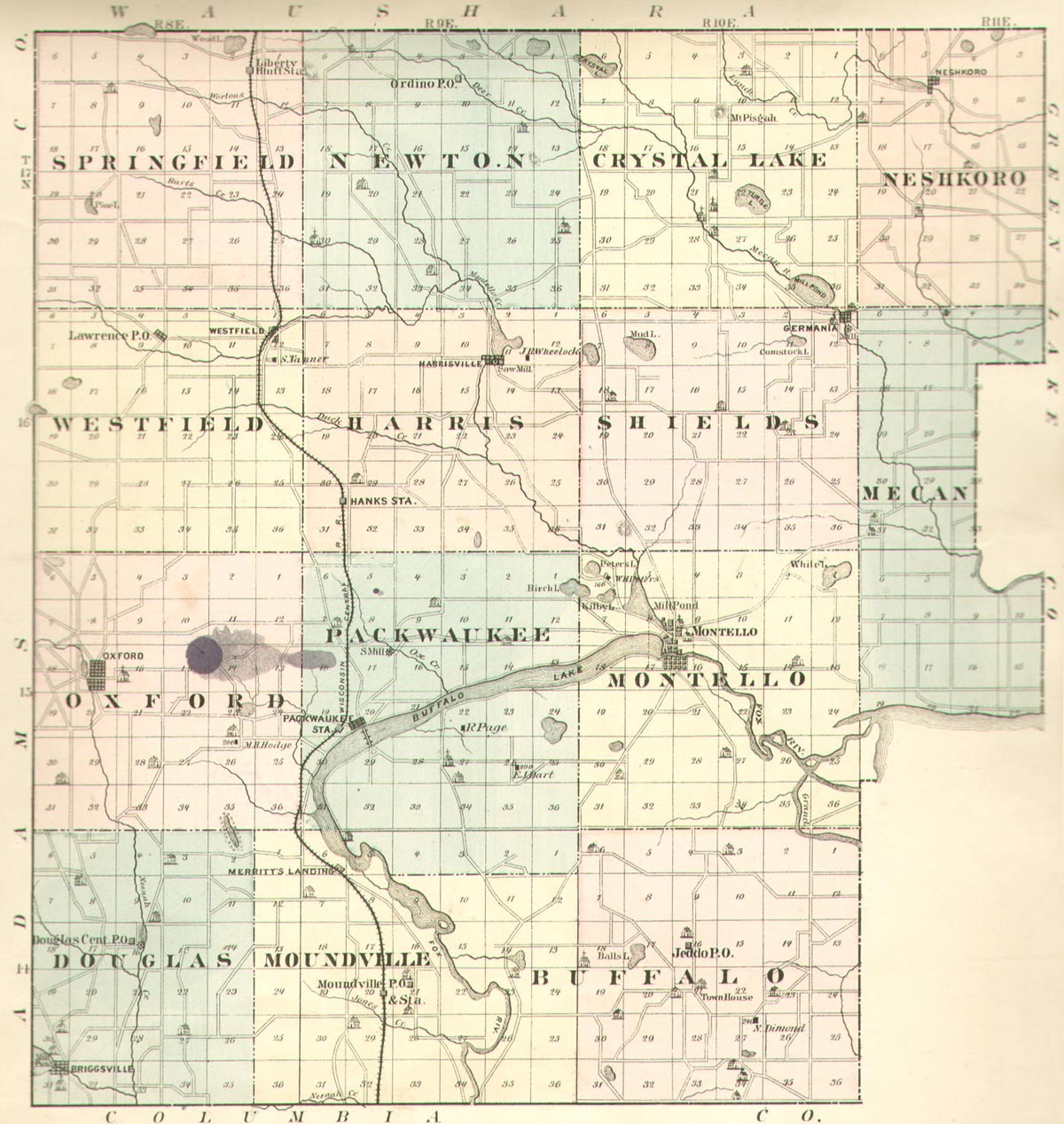 Marquette County, Wisconsin, History - 1878