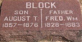 August T. & Fred. Wm. Block headstone